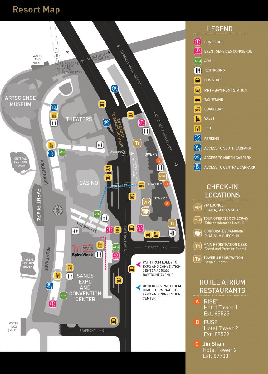 Marina Bay Sands | SpineWeek 2016 on sands hotel las vegas, marina bay sands map, sands expo center, sands expo floor plan, sands casino map, sands showroom las vegas,